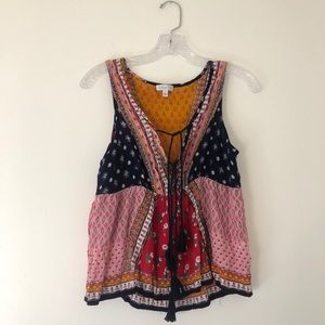 Boho Patchwork Pattern Top